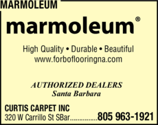 Yellow Pages Ad of Marmoleum