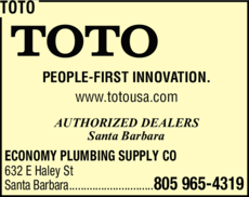 Yellow Pages Ad of Toto