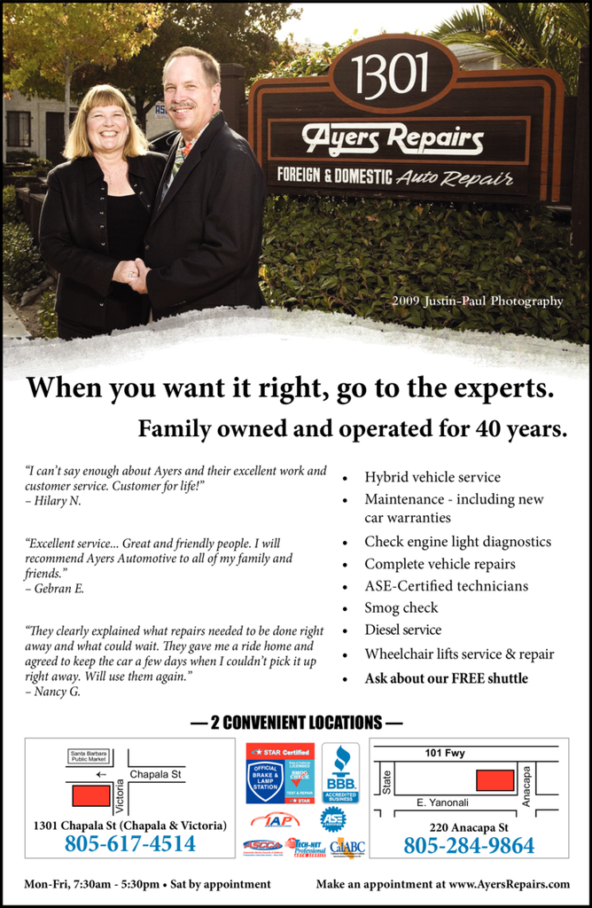 Print Ad of Ayers Automotive Repairs
