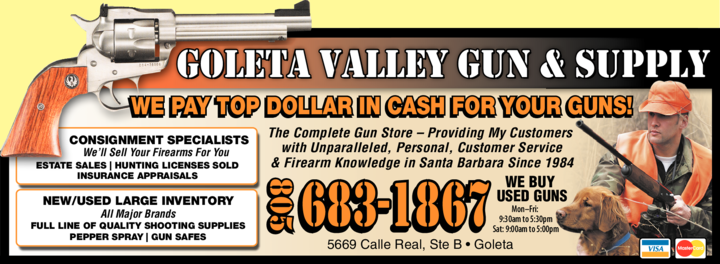 Yellow Pages Ad of Goleta Valley Gun And Supply