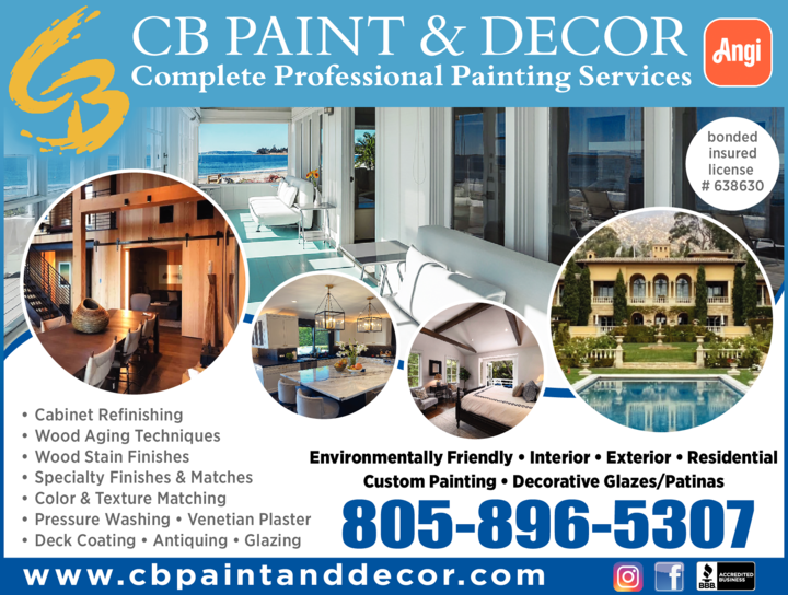 Yellow Pages Ad of Cb Paint & Decor Inc