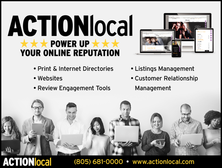 Yellow Pages Ad of Action Media Plus