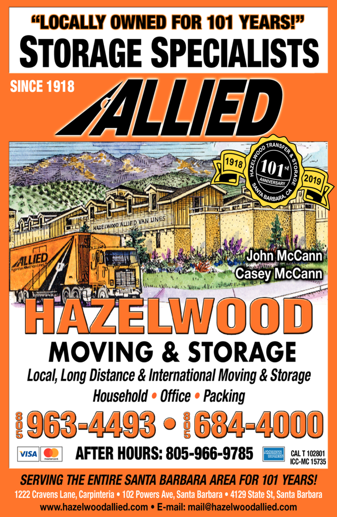 Yellow Pages Ad of Hazelwood Moving & Storage Inc