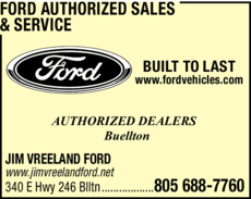 Yellow Pages Ad of Ford Authorized Sales & Service