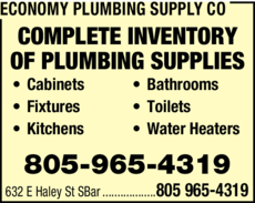 Yellow Pages Ad of Economy Plumbing Supply Co