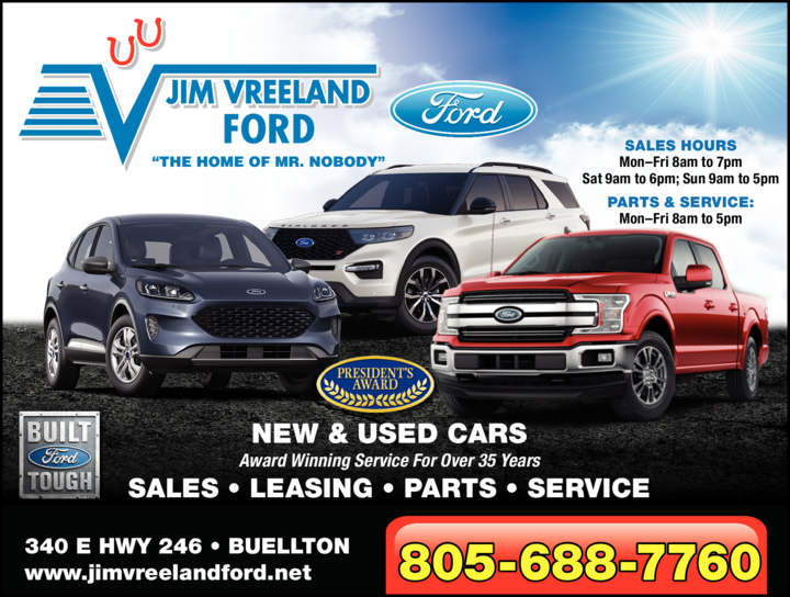 Yellow Pages Ad of Jim Vreeland Ford