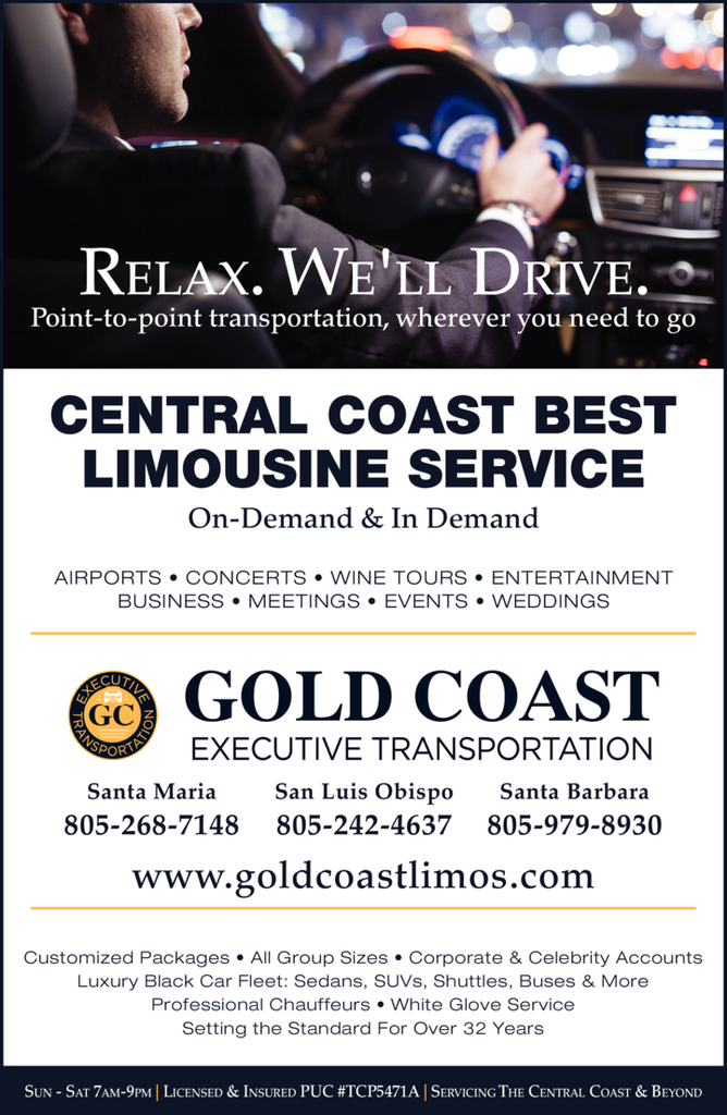 Yellow Pages Ad of Gold Coast Executive Transportation