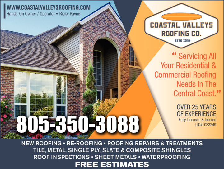 Yellow Pages Ad of Coastal Valleys Roofing Co