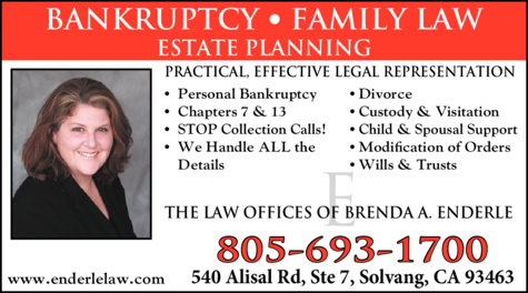 Yellow Pages Ad of Enderle Brenda A Law Offices Of