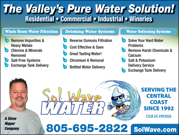Print Ad of Sol Wave Water