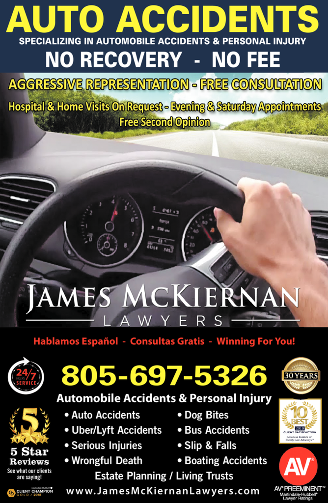Yellow Pages Ad of James Mckiernan Lawyers