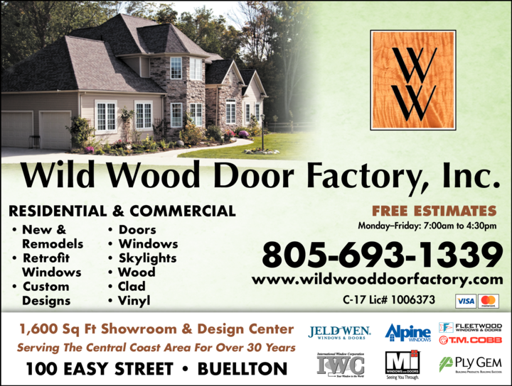 Yellow Pages Ad of Wild Wood Door Factory Inc