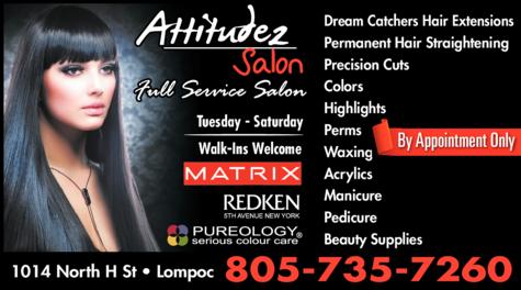 Yellow Pages Ad of Attitudez Salon