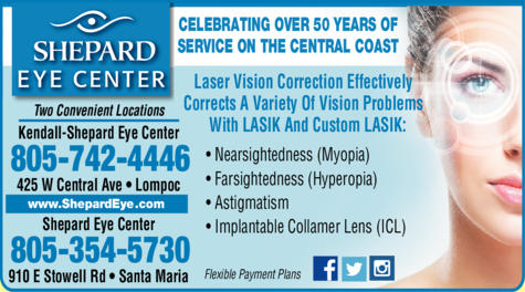 Yellow Pages Ad of Shepard Eye Center