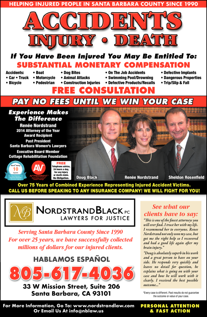 Yellow Pages Ad of Nordstrand Black Pc Lawyers For Justice