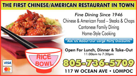 Yellow Pages Ad of Rice Bowl