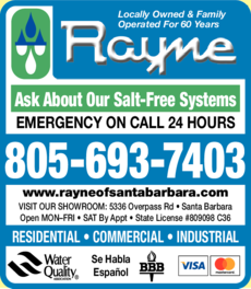 Yellow Pages Ad of Rayne Water Conditioning