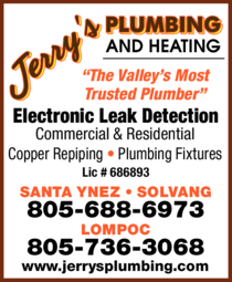Yellow Pages Ad of Jerry's Plumbing And Heating / Ac