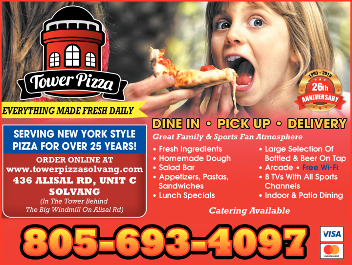 Yellow Pages Ad of Tower Pizza