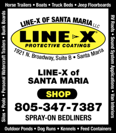 Yellow Pages Ad of Line X Of Santa Maria Llc
