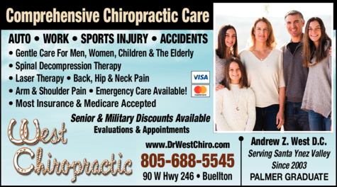 Yellow Pages Ad of West Chiropractic