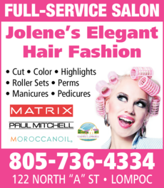 Yellow Pages Ad of Jolene's Elegant Hair Fashion