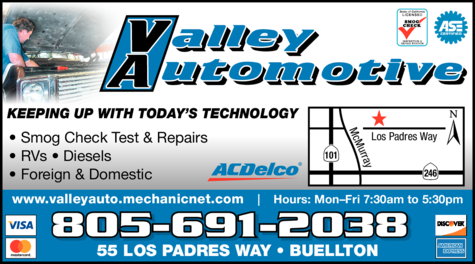 Yellow Pages Ad of Valley Automotive