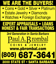 Yellow Pages Ad of Brombal Paul A Coins & Jewelry