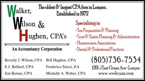Print Ad of Walker Wilson & Hughen An Accountancy Corporation