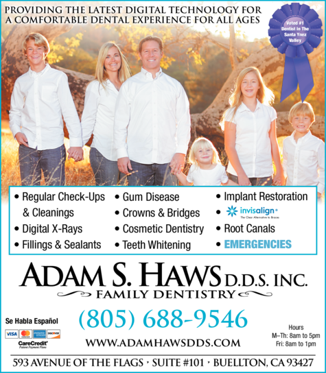 Print Ad of Adam S Haws Dds Inc