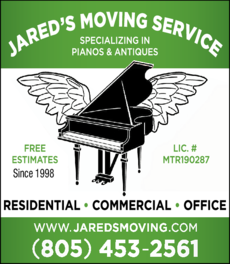 Yellow Pages Ad of Jared's Moving Service