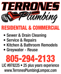 Yellow Pages Ad of Terrones Plumbing