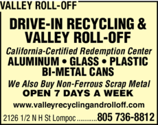 Yellow Pages Ad of Valley Roll-Off