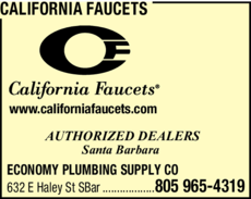 Yellow Pages Ad of California Faucets