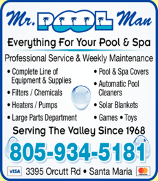 Yellow Pages Ad of Pool Man Mr