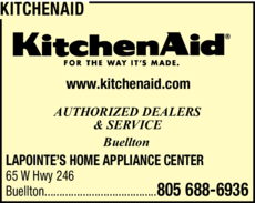 Yellow Pages Ad of Kitchenaid