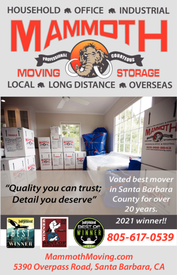 Yellow Pages Ad of Mammoth Moving & Storage