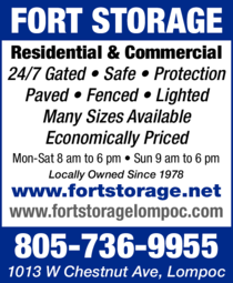 Yellow Pages Ad of Fort Storage