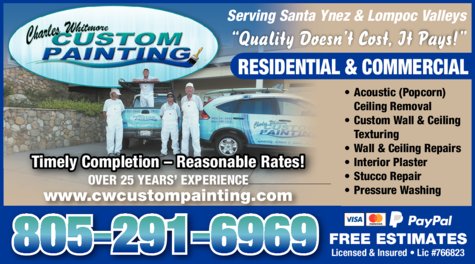 Yellow Pages Ad of Charles Whitmore Custom Painting