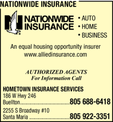 Yellow Pages Ad of Nationwide Insurance