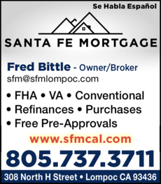 Yellow Pages Ad of Santa Fe Mortgage