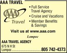 Yellow Pages Ad of Aaa Travel