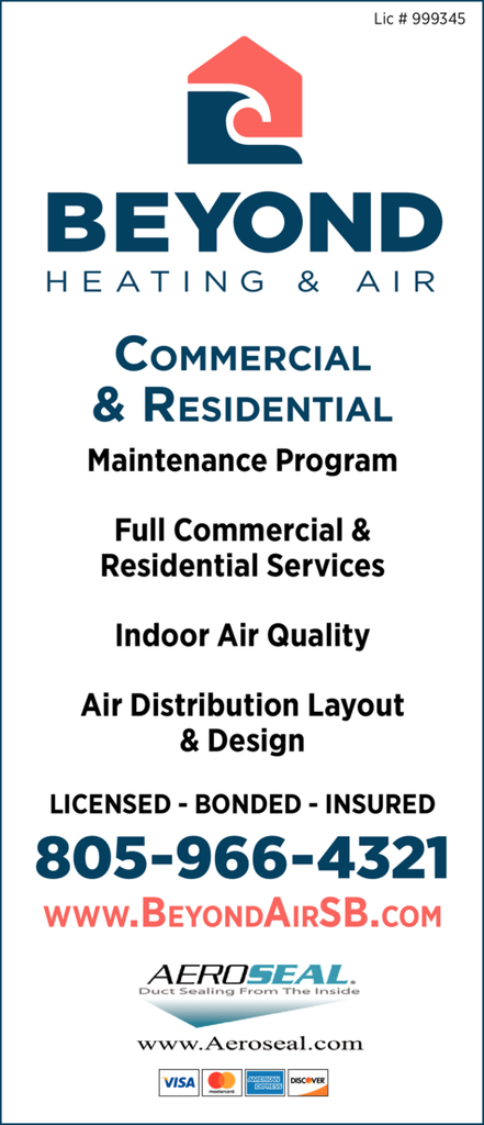 Yellow Pages Ad of Beyond Heating & Air Conditioning