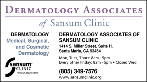 Yellow Pages Ad of Dermatology Associates Of Sansum Clinic