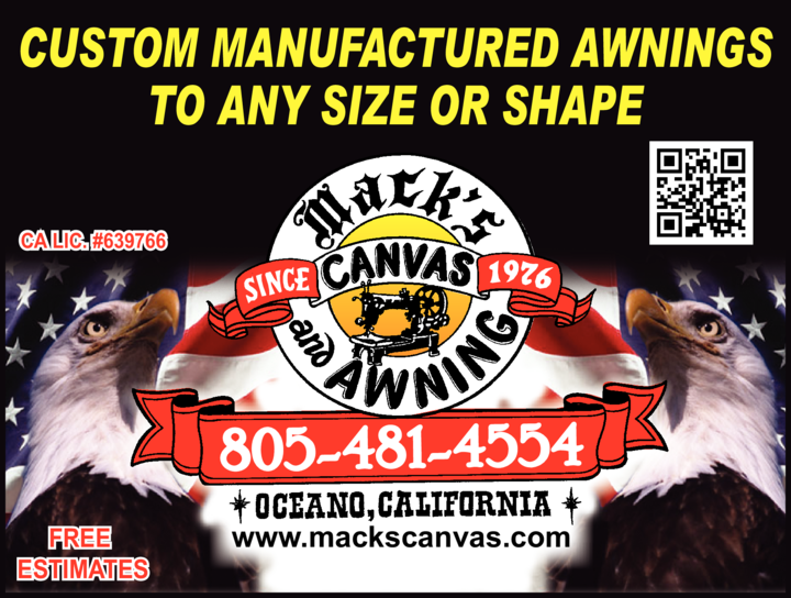Yellow Pages Ad of Mack's Canvas & Awning