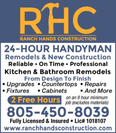 Yellow Pages Ad of Ranch Hands Construction