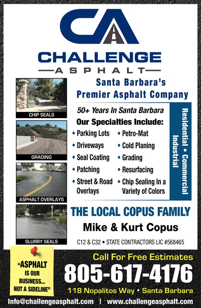 Print Ad of Challenge Asphalt Paving