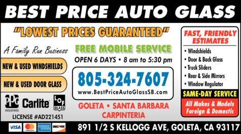 Yellow Pages Ad of Best Price Auto Glass