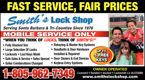 Yellow Pages Ad of Smith's Lock Shop