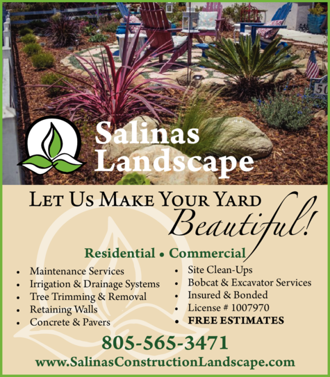 Yellow Pages Ad of Salinas Landscape